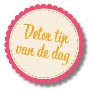 Detox tip van de dag